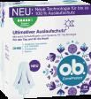 Vorderseite der Verpackung des o.b.® ExtraProtect Super Plus Tampons mit 36 Stück