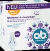 Vorderseite der Verpackung des o.b.® ExtraProtect Normal Tampons mit 56 Stück
