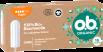 Vorderseite der Verpackung des o.b.® Organic Super Tampons mit 16 Stück