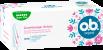 Vorderseite der Verpackung des o.b.® Original Super Plus Tampons mit 32 Stück