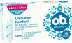 Vorderseite der Verpackung des o.b.® ProComfort Mini Tampons mit 16 Stück