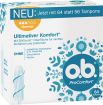 Vorderseite der Verpackung des o.b.® ProComfort Normal Tampons mit 64 Stück
