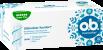 Vorderseite der Verpackung des o.b.® ProComfort Super Plus Tampons mit 32 Stück
