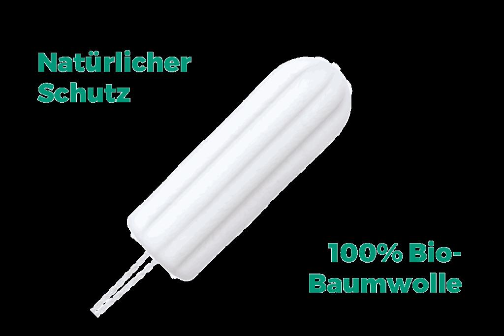 Grafik mit Produktinformationen zu o.b.® Organic Super Tampons